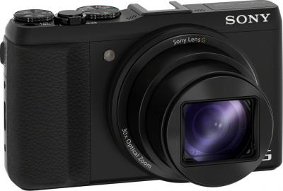 Компактный фотоаппарат Sony Cyber-shot DSC-HX50 (черный) - общий вид