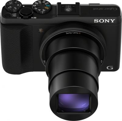 Компактный фотоаппарат Sony Cyber-shot DSC-HX50 (черный) - вид сверху