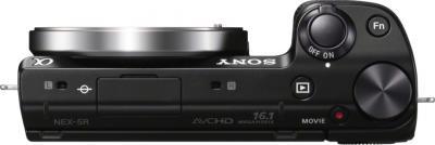 Беззеркальный фотоаппарат Sony NEX-5RYB - вид сверху