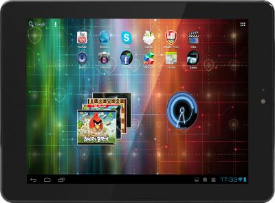 Планшет Prestigio MultiPad 2 Pro Duo 8.0 3G (PMP7380D3G_DUO Black-Silver) - фронтальный вид