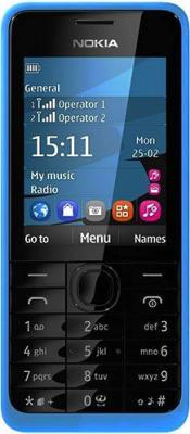Мобильный телефон Nokia 301 Dual (Cyan) - общий вид