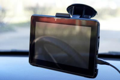 GPS навигатор Prestigio GeoVision 7777 (PGPS7777CIS8GBNV) - в автомобиле