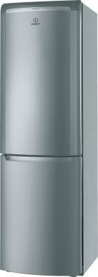 Холодильник с морозильником Indesit PBAA 33 F X - общий вид