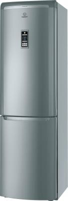 Холодильник с морозильником Indesit PBAA 34 F X D - общий вид