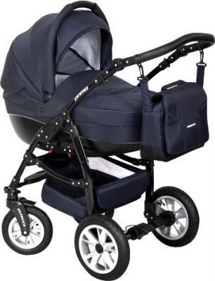 Детская универсальная коляска Riko Primo 2 в 1 (Navy Blue) - общий вид
