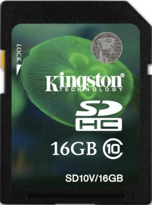 Карта памяти Kingston SDHC (Class 10) 16 Gb (SD10V/16GB) - общий вид