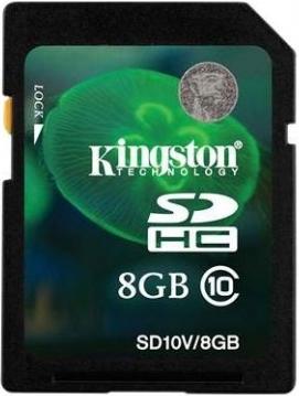 Карта памяти Kingston SDHC (Class 10) 8GB (SD10V/8GB) - общий вид