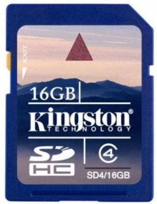 Карта памяти Kingston SDHC 16 Gb Class 4 (SD4/16GB) - общий вид
