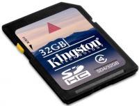 Карта памяти Kingston SDHC 32 Gb Class 4 (SD4/32GB) -