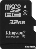 Карта памяти Kingston microSDHC 32 Gb (SDC4/32GB) -