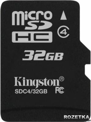 Карта памяти Kingston microSDHC 32 Gb (SDC4/32GB) - общий вид