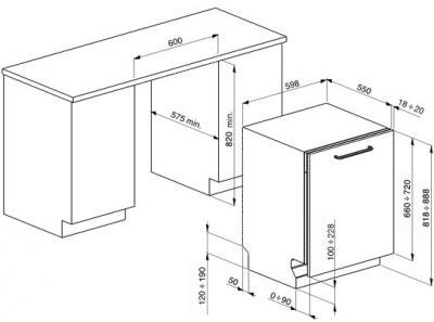 Посудомоечная машина Smeg STP364T - схема