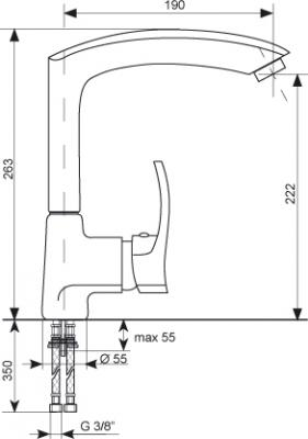 Смеситель Gran-Stone GS 4070 (Gray) - схема