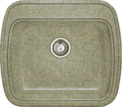 Мойка кухонная Gran-Stone GS-11 (песочный) - общий вид