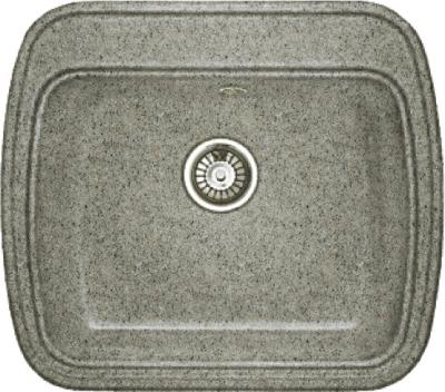 Мойка кухонная Gran-Stone GS-11 (серый) - общий вид
