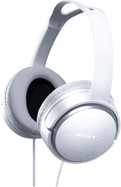 Наушники/гарнитура Sony MDR-XD150W (белый) - общий вид