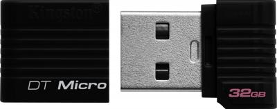 Usb flash накопитель Kingston DataTraveler Micro 32 Gb Black (DTMCK/32GB) - общий вид