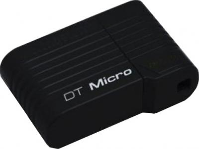 Usb flash накопитель Kingston DataTraveler Micro 64GB Black (DTMCK/64GB) - общий вид