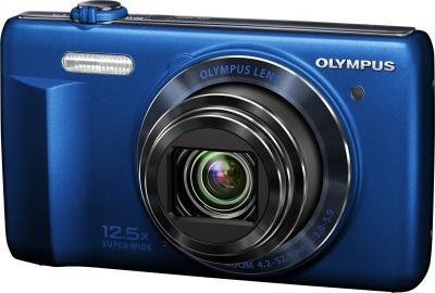 Компактный фотоаппарат Olympus VR-370 (синий) - общий вид