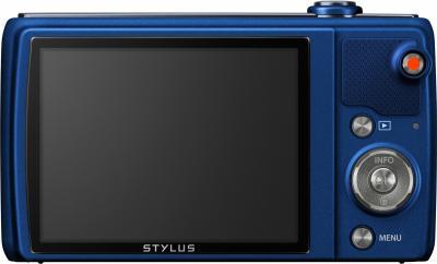 Компактный фотоаппарат Olympus VR-370 (синий) - вид сзади