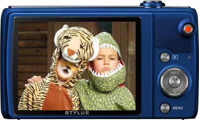Компактный фотоаппарат Olympus VR-370 (синий) - дисплей