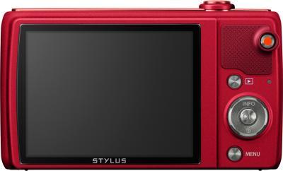 Компактный фотоаппарат Olympus VR-370 (красный) - вид сзади