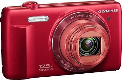 Компактный фотоаппарат Olympus VR-370 (красный) - общий вид