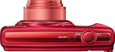 Компактный фотоаппарат Olympus VR-370 (красный) - вид сверху