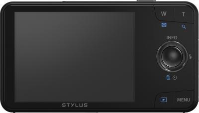 Компактный фотоаппарат Olympus VH-520 (черный) - вид сзади