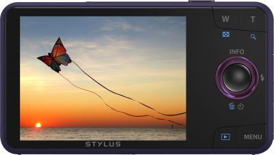 Компактный фотоаппарат Olympus VH-520 (фиолетовый) - дисплей