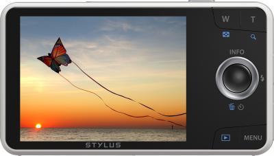 Компактный фотоаппарат Olympus VH-520 (белый) - дисплей
