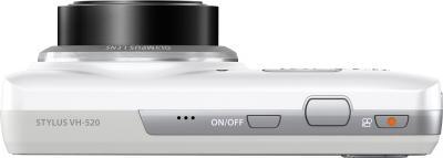 Компактный фотоаппарат Olympus VH-520 (белый) - вид сверху
