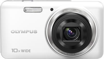 Компактный фотоаппарат Olympus VH-520 (белый) - вид спереди