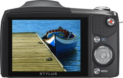 Компактный фотоаппарат Olympus SZ-16 (Black) - вид сзади