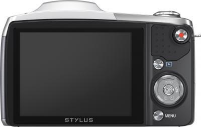 Компактный фотоаппарат Olympus SZ-16 (Silver) - вид сзади