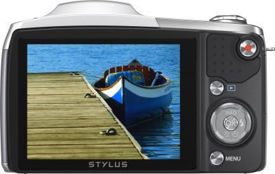 Компактный фотоаппарат Olympus SZ-16 (Silver) - дисплей