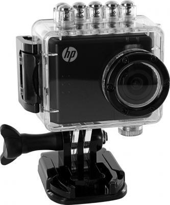 Экшн-камера HP AC-150 Action Camera - общий вид  в водонепроницаемом чехле