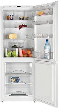 Холодильник с морозильником ATLANT ХМ 4521-100-N - вид с открытой дверью