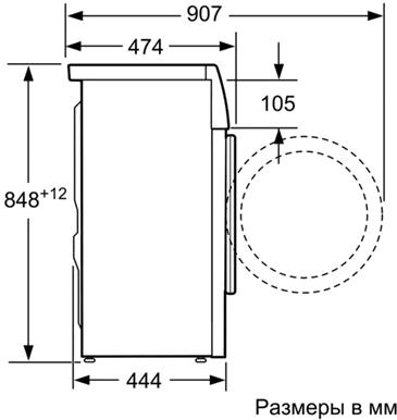 Стиральная машина Bosch WLO2416SOE - схема
