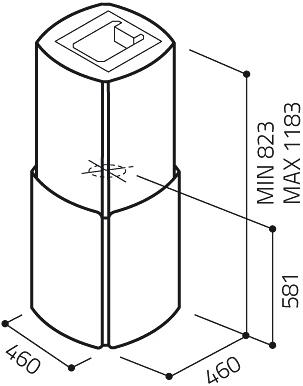 Вытяжка коробчатая Elica Chrome EDS IX/A/46 - схема