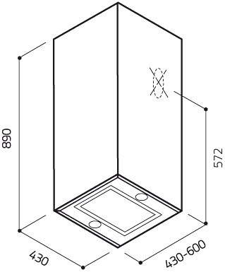 Вытяжка коробчатая Elica Kuadra IX/A/43 - схема