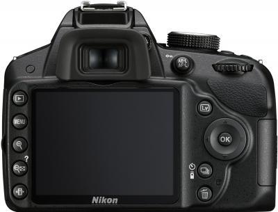 Зеркальный фотоаппарат Nikon D3100 Kit (18-105mm VR) - вид сзади