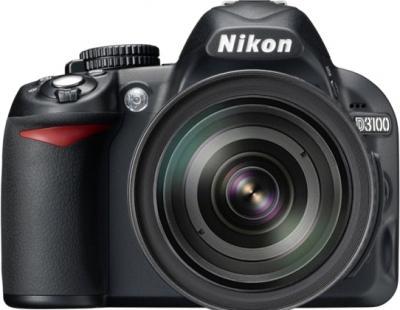 Зеркальный фотоаппарат Nikon D3100 Kit (18-105mm VR) - вид спереди