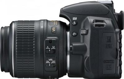 Зеркальный фотоаппарат Nikon D3100 Double Kit (18-55mm VR + 35mm f/1.8G) - вид сбоку