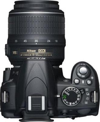 Зеркальный фотоаппарат Nikon D3100 Double Kit (18-55mm VR + 35mm f/1.8G) - вид сверху