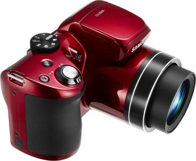 Компактный фотоаппарат Samsung WB110 (EC-WB110ZBARRU Red) - вид сверху