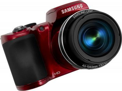 Компактный фотоаппарат Samsung WB110 (EC-WB110ZBARRU Red) - общий вид
