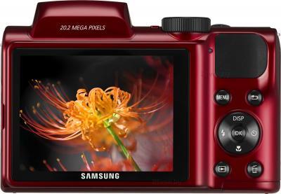 Компактный фотоаппарат Samsung WB110 (EC-WB110ZBARRU Red) - вид сзади