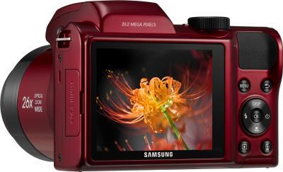 Компактный фотоаппарат Samsung WB110 (EC-WB110ZBARRU Red) - дисплей