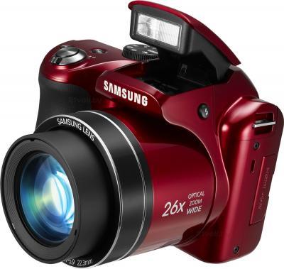 Компактный фотоаппарат Samsung WB110 (EC-WB110ZBARRU Red) - со вспышкой